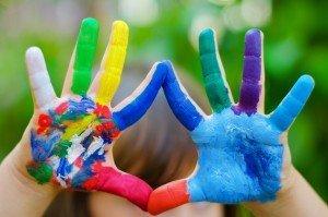 finger-painting